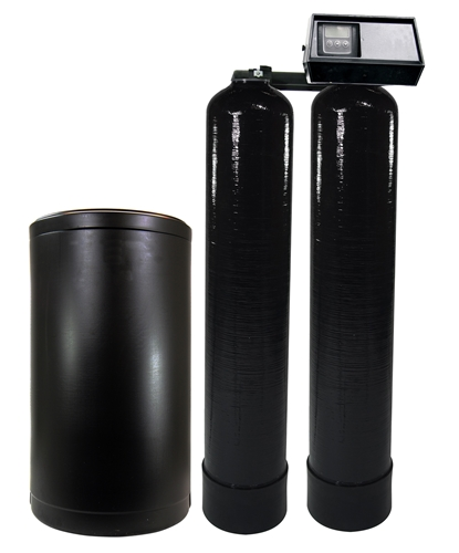 Fleck 9100SXT Twin Water Softening System 64,000 Total Grains