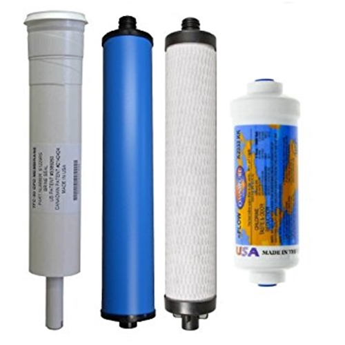 Microline 4-Stage RO Replacement Kit, Three Filters + 50 GPD Membrane