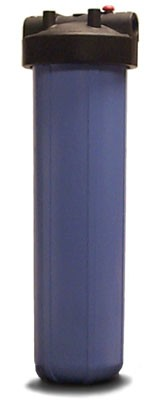 "Pentek 20"" Big Blue Housing w/ Pressure Relief, 1"" FPT"